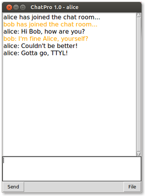 Chat Client Alice
