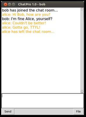 Chat Client Bob